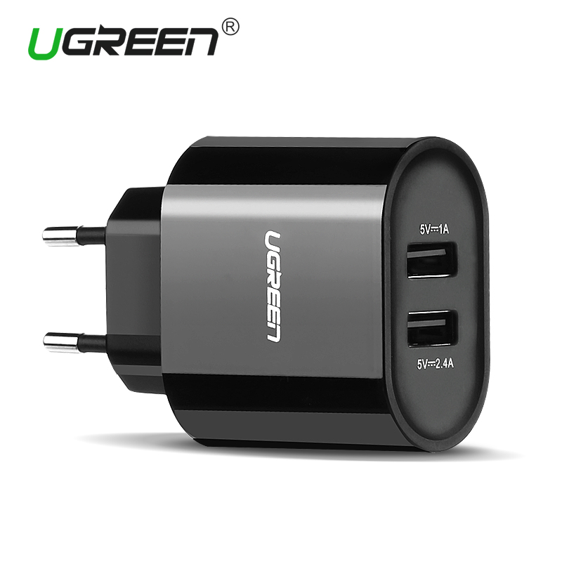 Ugreen 17W Dual Port Travel Wall EU Plug USB Charger for iPhone 4S 5 5S 6 6 Plus Samsung Galaxy s4 Sony Xperia HTC Phone Charger