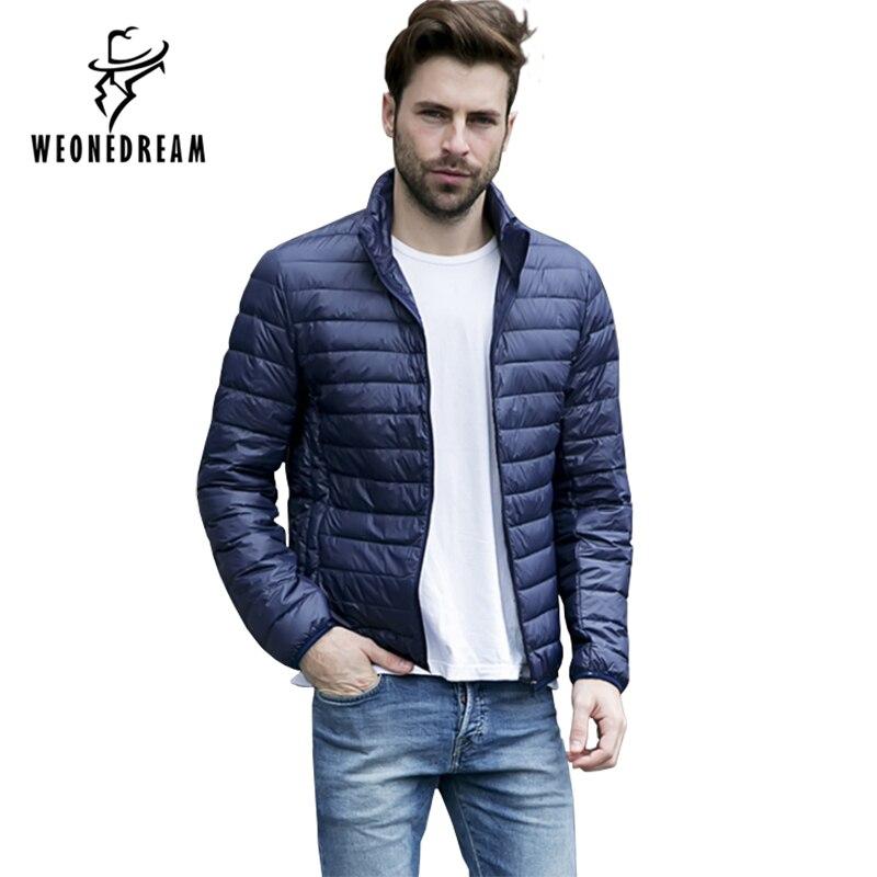 2018 Mens Winter Parka Eendendons Jacekt Mannen Stand Kraag Casual Warme Jas Bovenkleding Plus Size Parka Homme Jas Mannen