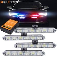 4x6 Led Ambulance Police Light DC 12V Car Light Flashing Firemen Emergency Lights DRL Day Running