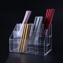 Acrylic Pen Holder Clear Eyebrow Pencilery Display Stand Mult-ifunction Lipstick Eyebrow Pen Storage Holder Makeup Organizer(China)