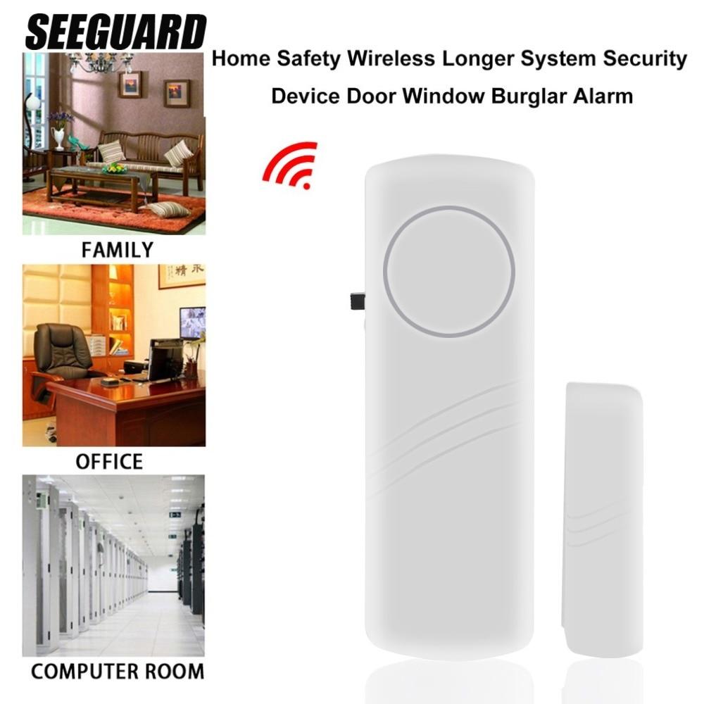 SEEGUARD Porta E Janela de Alarme Do Assaltante Sistema de Segurança Home Sem Fio Da Porta Lembrete Loja de Janela Da Porta de Alarme Magnético Da Porta