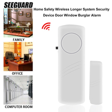 SEEGUARD Door And Window Burglar Alarm Home Door Wireless Security System Door Reminder Window Shop Door Magnetic Alarm smarsecur home alarm system metal rolling gate window door magnetic contacts alarm reed switch mc 56