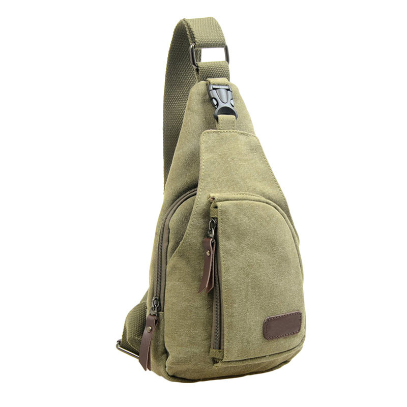 Newest men travel bags Casual Canvas Unbalance Backpack Crossbody Shoulder Bag Chest backpack high quality#0
