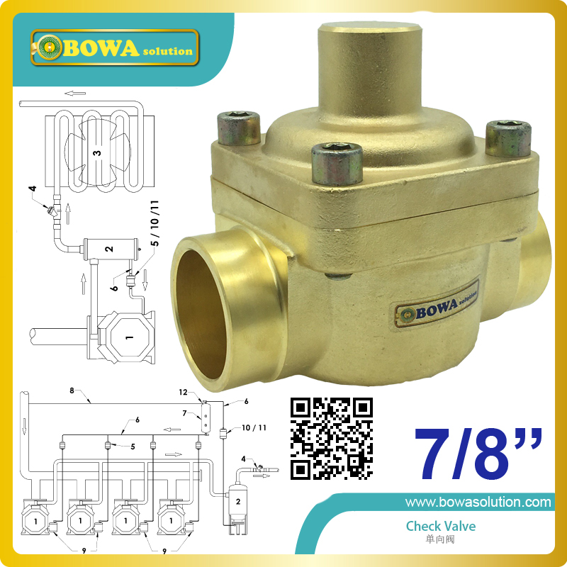 7/8 piston Check Valve built-in damping piston that makes the valve suitable for installtion in line where pulsation can occur 3 8 check valve with solder connection for bus air conditioner and refrigeration truck replace sporlan check valve