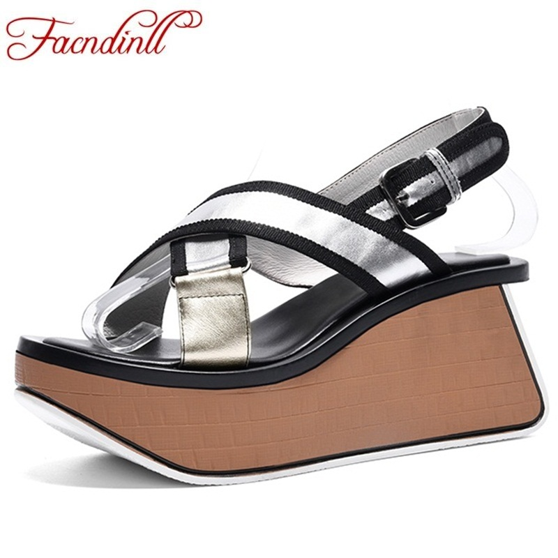 FACNDINLL fashion women high heels sandals fashion wedges high heels open toe platform shoes summer casual date woman sandals facndinll new women summer sandals 2018 ladies summer wedges high heel fashion casual leather sandals platform date party shoes