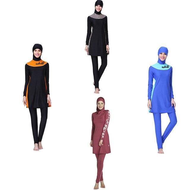 2017 Plus Size Modest Swimwear Musulmano Costume Da Bagno Islamico ...