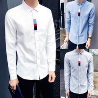 Erkekler Fransız Kol Düğmeleri Gömlek 2016 Yeni erkek Gömlek Uzun Kollu Rahat erkek Marka Gömlek Slim Fit Erkekler Için Fransız Manşet Elbise Gömlek