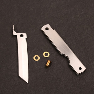 Image 2 - Pocket Knife DIY Kits 3 layer forged stainless steel razor folding knife outdoor utility EDC hand tools knife