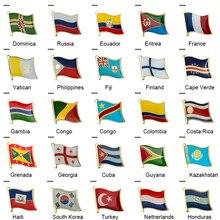 Значок флага, значок с флагом страны брошь в виде флага национального флага отворот булавка международные туристические булавки коллекции