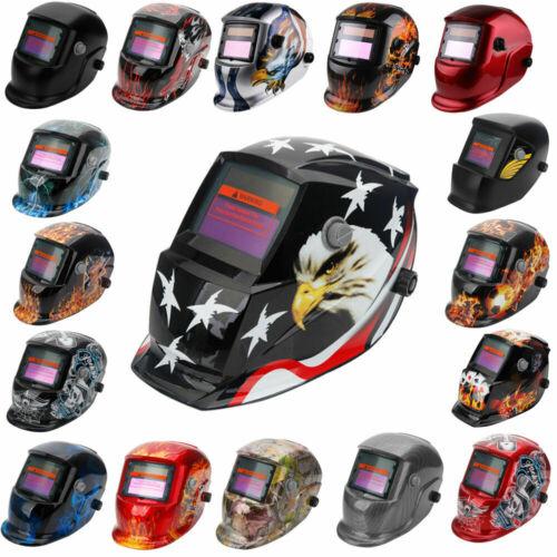 Solar Auto Darkening Welding Helmet BLACK Arc Tig Grinding Welder Mask