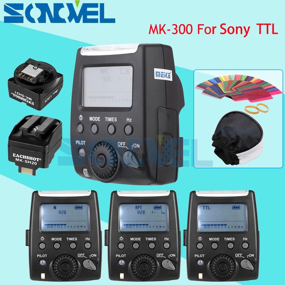 Meike MK 300 MK 300S LCD TTL Speedlite Flash Light For Sony NEX3 NEX5 NEX6 A9