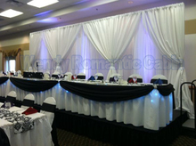 3M*6M two layers Ice Silk White Wedding Backdrop wedding Decoration stage curtain wedding drapes