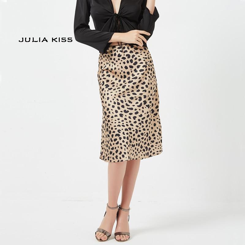 competitive price 83303 59333 Kaufen Billig Frauen Leopard Print A linie Rock Lange Röcke ...