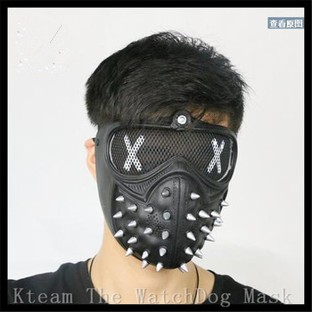 Watch Dogs Mask PVC Fabric Type Adult Men Cosplay Prop Costume Half Helmet From Hot Fashion European and US Games Watch Dogs 2