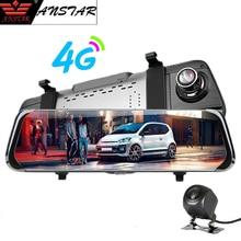 """Anstar 10 """"4G Specchio di Retrovisione Dell'automobile DVR HD 1080 P Registratore Doppia Lente Dash Cam WiFi ADAS GPS di Navigazione Auto Registrar Videocamera per auto"""