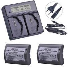 Lot de 2 batteries 3200mAh, EN EL18, ENEL18a + LCD, double chargeur rapide intelligent pour appareil photo reflex numérique Nikon D4, D4S, D5