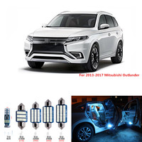 11pcs CANBUS White LED Light Car Bulbs Interior Package Kit For 2013 2017 Mitsubishi Outlander Map
