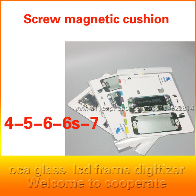 Для iPhone4 5S 6 плюс Мобильный телефон разбирать, положение винта, позиционирование, магнитные прокладки, магнитная функция