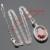 Hecho en China Rojo Blanco Cubic Zirconia Color Plata Sistemas de La Joyería Para Las Mujeres Pendientes/Colgante/Collar/Anillos Regalo de navidad