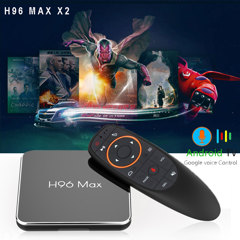 H96 max X2 4GB 32GB 64GB Android 8.1 tv box Amlogic S905X2 1080P H.265 4K Set Top Box Google Play Smart TV Media player 2gb 16gbH96 max X2 4GB 32GB 64GB Android 8.1 tv box Amlogic S905X2 1080P H.265 4K Set Top Box Google Play Smart TV Media player 2gb 16gb