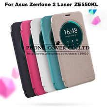 Nillkin étincelle série flip case en cuir de couverture pour Asus ZenFone 2 Laser ZE550KL 5.5 Téléphone cas pour Asus ze550kl case