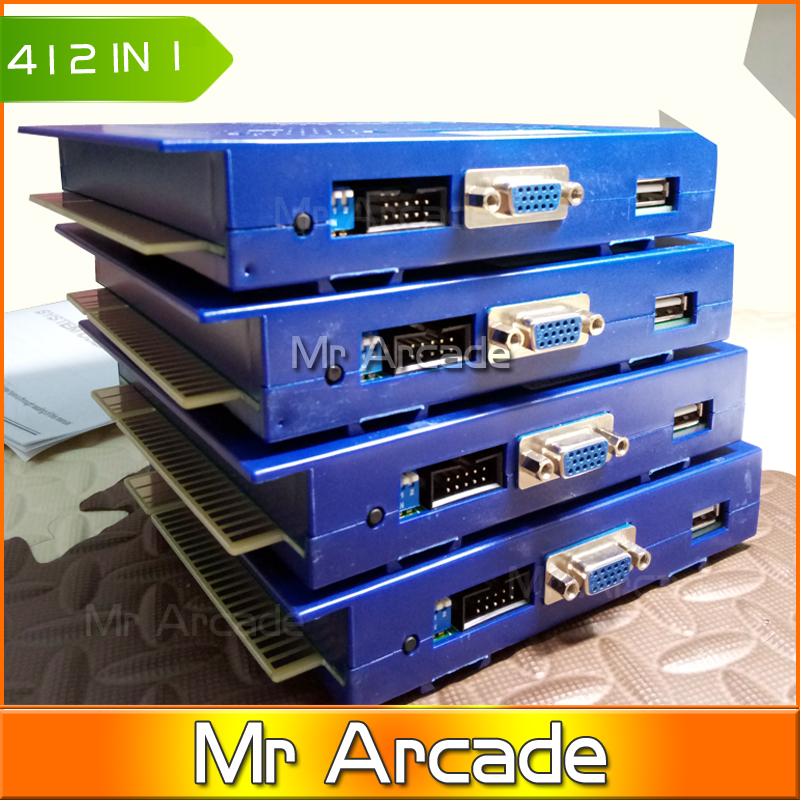 New Arrival Original Jamma Arcade Game Elf 412 in 1 Cartridge- Can Play With CGA & VGA Vertical Arcade Game Pcb hot sale game elf 619 in 1 jamma arcade game pcb update 621 in 1 support cga vga output for bartop and upright arcade