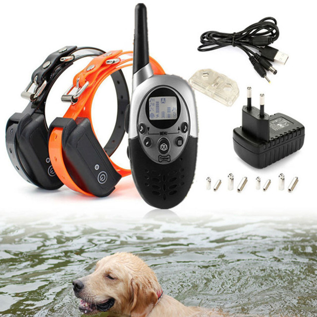 Pet Waterproof Pet Dog Training Collar Rechargeable Electric LCD Display for All Size Bark-stop Collars with Remote