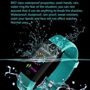 Image 2 - Nova pulseira inteligente smartwatch, pulseira inteligente, monitor de freqüência cardíaca e pressão arterial, monitor de fitness, pedômetro, pulseira para android, xiaomi, huawei, telefone ios