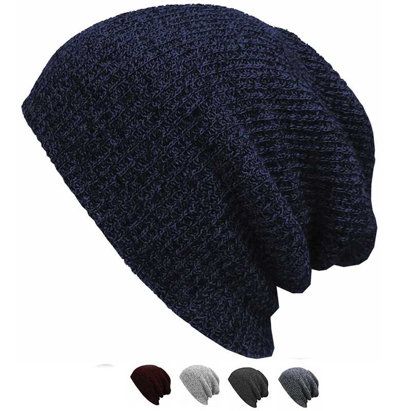 Unisex Knit Baggy Beanie Oversize Winter Hat Ski Slouchy Chic Cap Skull hot sale unisex winter plicate baggy beanie knit crochet ski hat cap