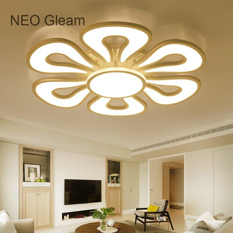 NEO Lueur moderne led lustre lumières pour salon chambre enfants chambre surface monté led accueil intérieur plafond lustre lampe