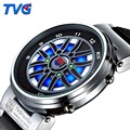 TVG Top Brand Luxury Analog Digital Watches Men Creative Design Car Wheel Led Disply Outdoor Sports Dive Watch 100M Waterproof