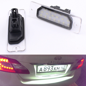 LED Number License Plate Light Lamp 2Pcs 18SMD No Error OEM Direct Fit For Infiniti Fx35 Fx45 Q45 I30 I35 Q70 Nissan Fuga Cefiro(China)