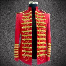 Fashion Royal Costumes for Men DJ Show Suit Jacket