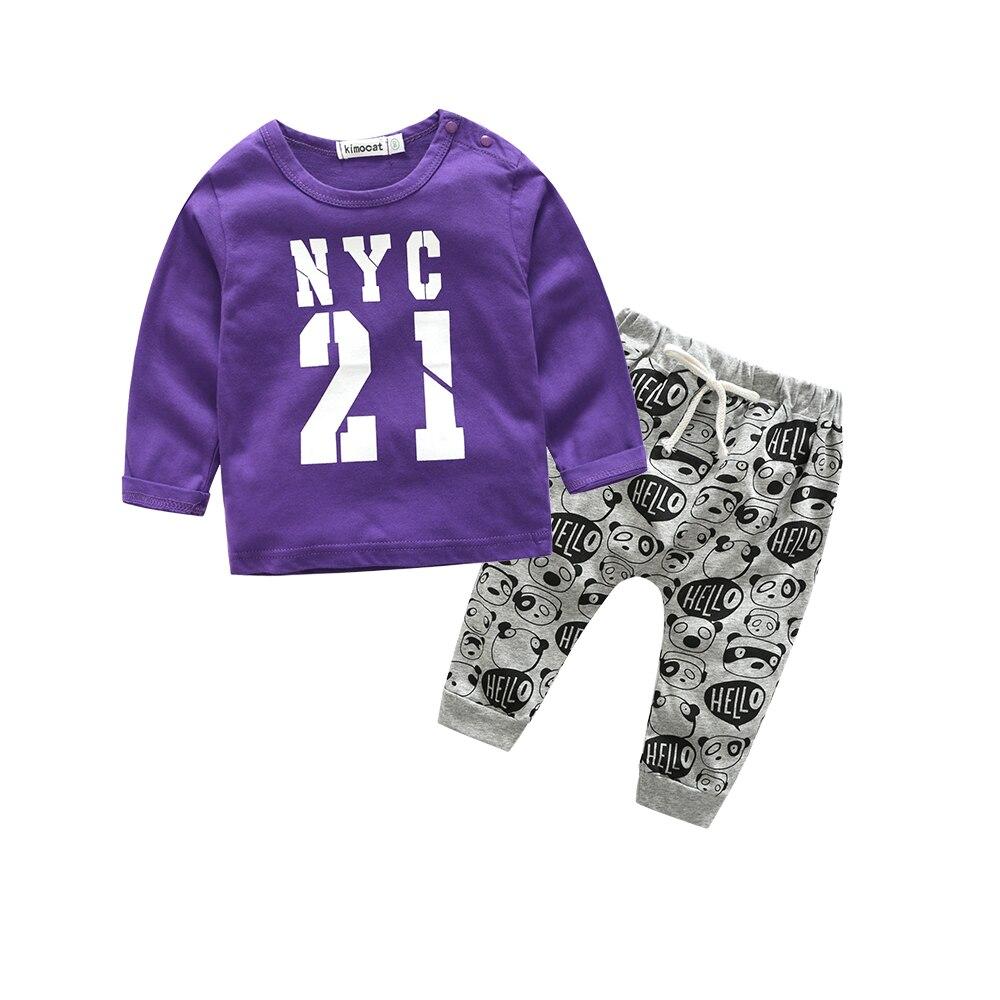 одежда для новорожденных новый стиль напечатанная письмом случайный мальчик одежды младенца новорожденных детская одежда