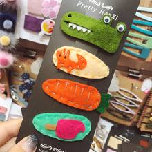 1pcs Cute Cartoon Sweet Girl Carrot Rabbit Crocodile Fox Hair Clips Animal Pattern Hairpins Hair Beauty Tools Accessories New(China)