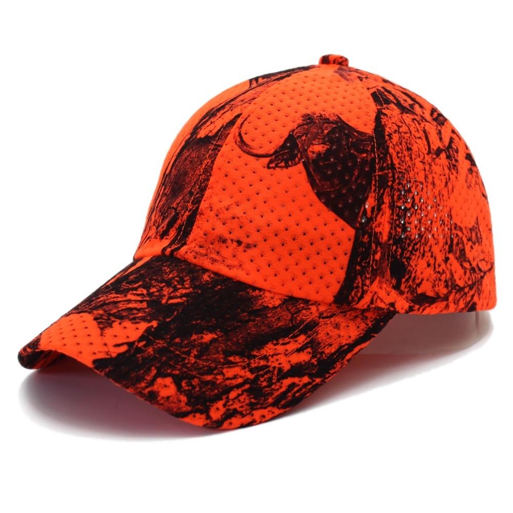 Men Women Baseball Cap Tactical Cap Orange Camouflage Hat