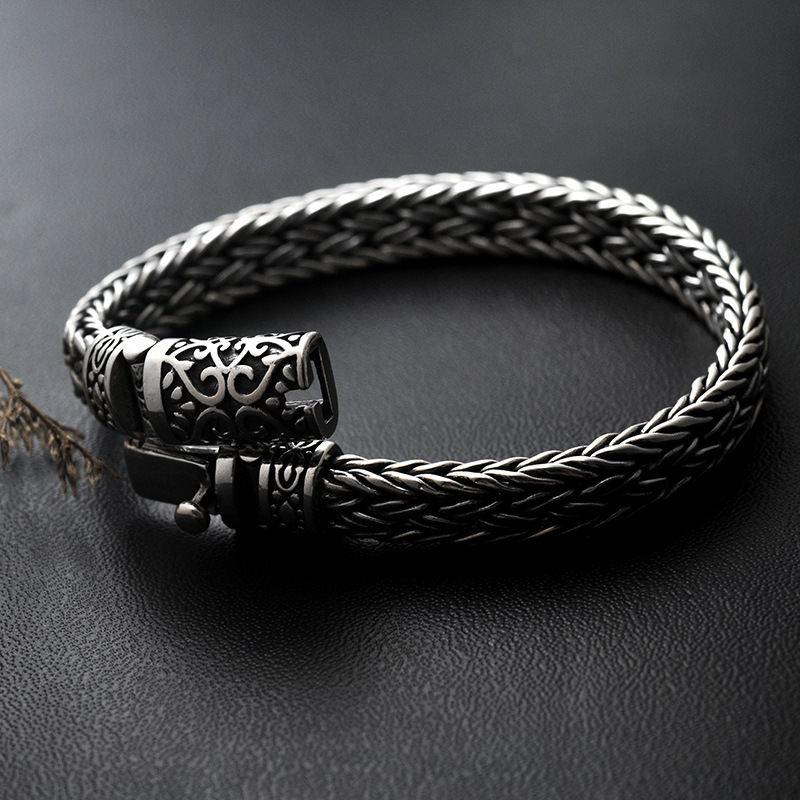 GAGAFEEL, 100%, 925, серебряные браслеты, ширина 8 мм, классический провод кабель, звено цепи, S925, тайские серебряные браслеты для женщин, мужчин, ювелирное изделие, подарок - 3