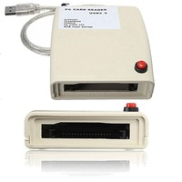 New USB To 68 Pin ATA PCMCIA Flash Disk Memory Card Reader Adapter Converter LXT For