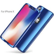 Maxsharer Phone Case For iPhone 7 8 Plus Plating Metal Silicone Back Cover for iPhone X XR XS Max 6 6S Plus Gifted Tempered Film