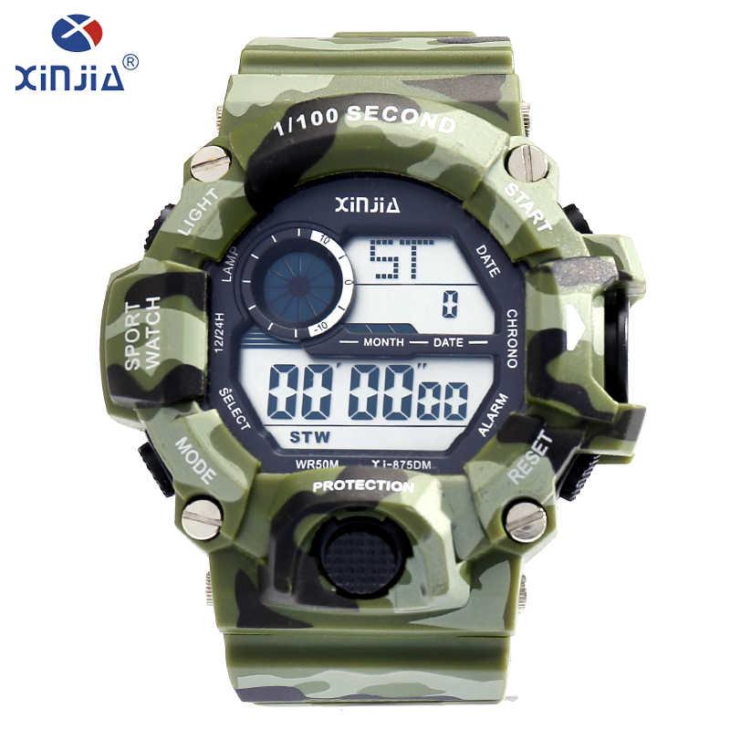 precio competitivo c19de 65cc2 XINJIA Men Sports Watches Luxury Brand Camouflage Military ...