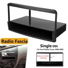 Car Stereo Radio DVD Fascia Piastra del Pannello Telaio 1 Din Pannello Audio Dash Kit di Montaggio Adattatore per Ford per Fiesta per la Messa A Fuoco 1998-2006