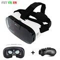 2017 VR Fiit 2N Кожа 3D Виртуальной Реальности Очки Гарнитура VRBOX Шлем + Mocute Пульт дистанционного управления для Смартфонов 4-6'