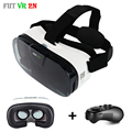 2017 VR Fiit 2N Leather 3D Virtual Reality Glasses Mobile Headset VRBOX Helmet + Mocute Remote Controller for Smartphone 4-6'
