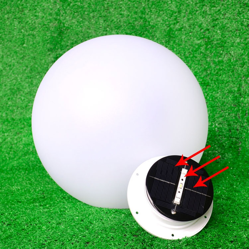 Solar LED Ball Night Light IP65 Waterproof Outdoor 16 Color Changing Floating swimming pool bar grass lights decoration lamps waterproof ip65 led ball 15 15 15cm water floating pool lighting ball for christmas decoration free shipping