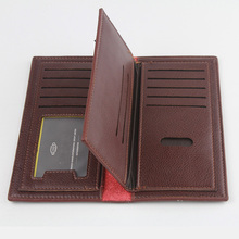 Luxury Brand High Quality PU Leather Men Long Bifold Wallet Purse Vintage Designer Male Carteira Money Clip slim wallet
