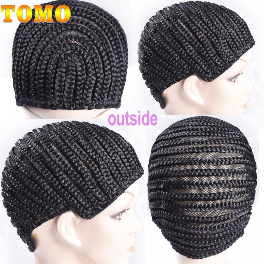 TOMO 1pcs Black Super Elastic Cornrow Cap For Weave Crochet Braid Wig Caps For Making Wigs Top Selling Weaving Braid Cap Wig Net