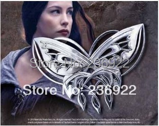 Fashion Jewelry Silver Charm Elves Arwen Evenstar butterfly brooch For Men And W
