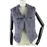 2019 New Real Knitted Rabbit Fur Vest For Women Genuine Rabbit Fur Waistcoat Natural Rabbit Fur Outwear Winter Hot Sale