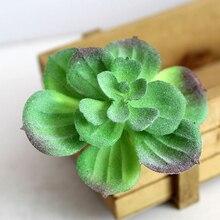 1Pcs Artificial Succulent Plants Cactus Green Plastic Faux Succulentsr Bonsai Desktop Fake Plant Home Decor Office