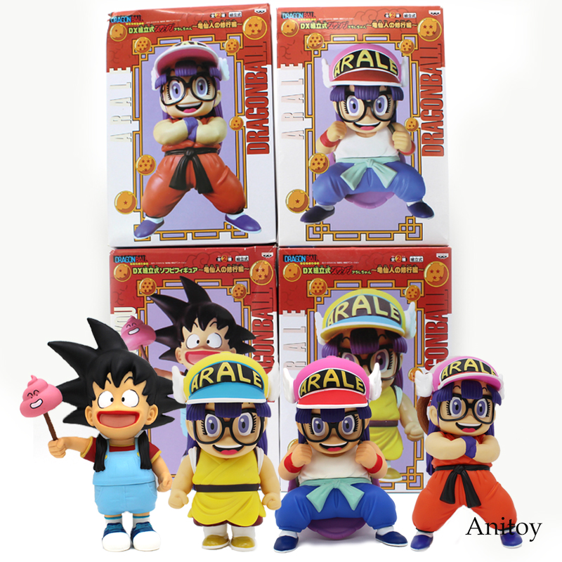 Dr.Slump Arale Cosplay Dragon Ball Z Son Goku Krillin Anime Cartoon Funny PVC Figure Collectible Model Toy 18~24m 4 Styles